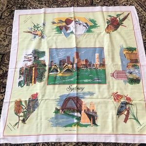 Vintage  beautiful Sydney tablecloth